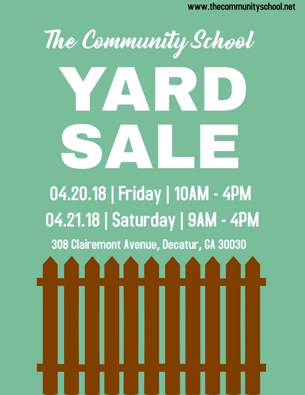 TCS Yard Sale