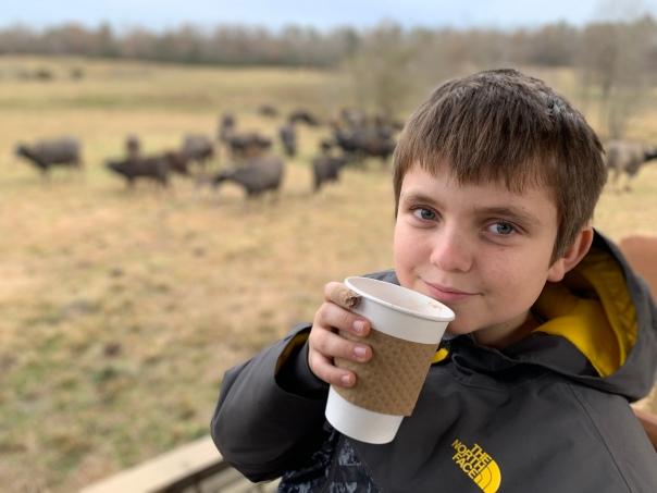 ben - hot chocolate and water buffalo